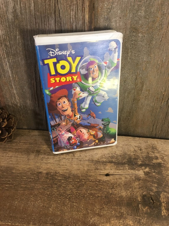 Toy Story vhs format movie, childrens movie, Walt Disneys Toy Story VHS movie from 1995, vintage childrens vhs movie, Woody, Buzz Lightyear