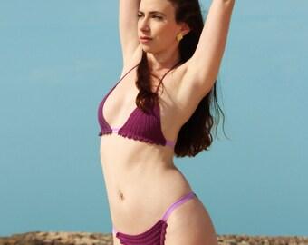 Purple Drops Bikini Set