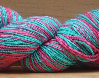 Self-Striping Sock (4Ply), hand-dyed yarn, 100g - Sweet Treat
