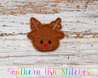 Reindeer Feltie Embroidery Digital Download