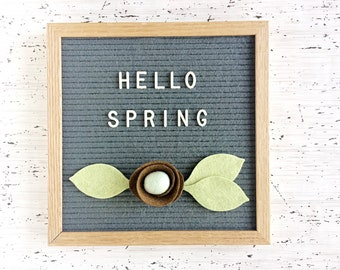 Birds Nest for Letter Board - Spring Decor - Pregnancy Announcement - for Shower, Spring or Every Day!