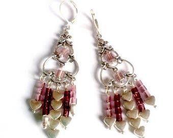 "Sleepers ""So Chic"" n4 - Silver earrings 925/1000 and Miyuki glass beads"