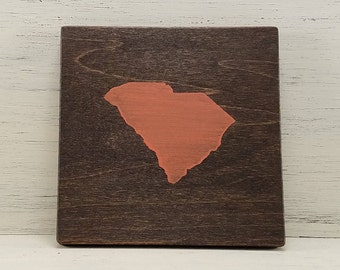 "Any Color, Any State, Custom State Wall Art, South Carolina, Gamecocks, Baylor, 5""x 5"""