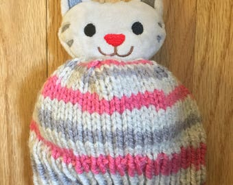 Sweet Kitty Topper Infant Hat