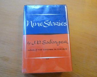 """Vintage """"Nine Stories"""" by J. D. Salinger - Hardcover"""