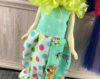 Middie Blythe Romper - Rainbow Spots with Candy