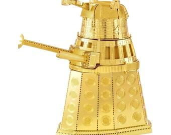 Doctor Who Gold Dalek 3D  Metal Laser Cut Model