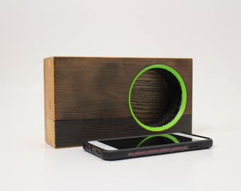 iPhone Speaker Dock / Audio Amplifier / Portable Acoustic Speaker by Recovered Design
