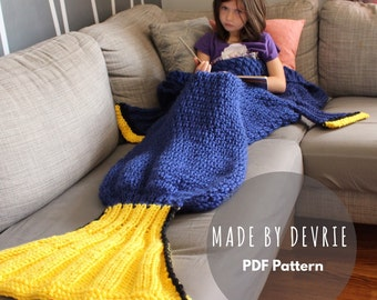 DIGITAL Download, Dory Blanket, Dory Blanket Pattern, KNITTING PATTERN,knit fish blanket, Finding Dory, Knit blanket pattern, Fish Tail
