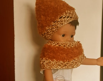 Cherie's Corolla or doll 33 cm: hat and wool snood