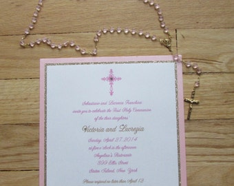 Victoria & Lucrezia//Communion invitation