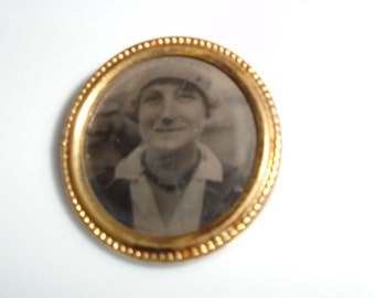 Antique Photograph Pin Brooch Made in Holland 1930s-40s