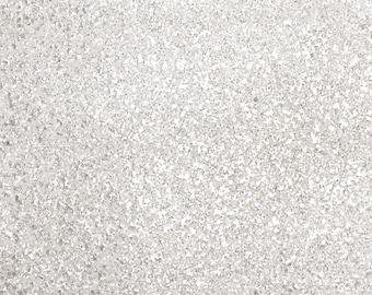 Glitter Fabric. Silver Snow. A4 sheet. JR09047