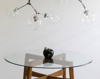 Modern Chandelier, 7 light - Branching Bubble Style
