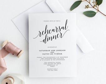 Wedding Rehearsal Dinner Invitations Template | Printable Rehearsal Dinner Invitations | DIY Editable Wedding Rehearsal Dinner Invitations
