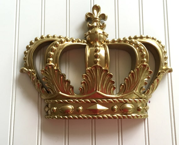 Captivating SALE / Gold Princess Crown / Nursery / Crown Wall Hanging /