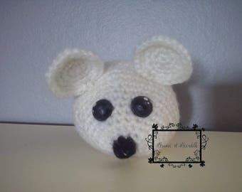 Amigurumi mouse white
