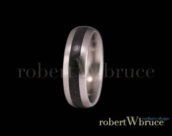 MEGALODON & Titanium Groom's Wedding Band Ring - Exclusive rWb Custom Design
