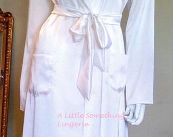 Floor length white satin robe uk bride silk dressing gown bride silk dressing gowns uk white silk dressing gown white silk robe Uk seller