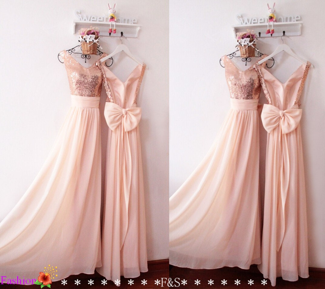 Sexy backless prom dress wedding dressessexy bridesmaid for Pink and gold wedding dress