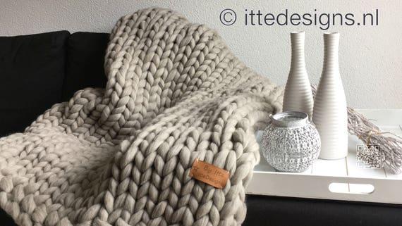 Chunky Wolle Xxl : decke xxl 100 merino wolle hellen grau braun plaid dicken ~ Watch28wear.com Haus und Dekorationen