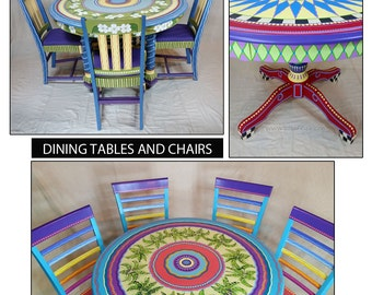 Lovely Hand Painted Furniture, Custom Hand Painted Furniture, Colorful Hand Painted  Furniture, Hand Painted
