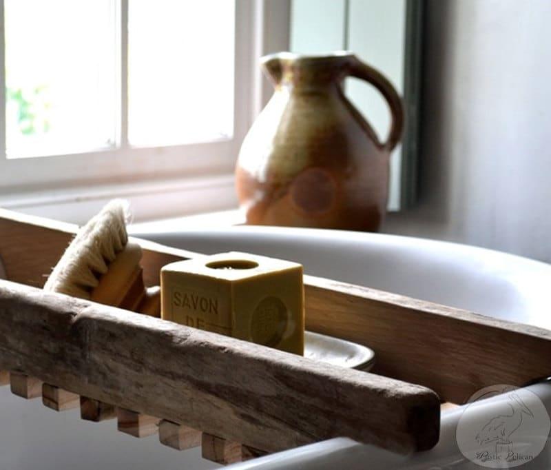 Rustic Bathtub Caddy Bathtub Tray Reclaimed wood style