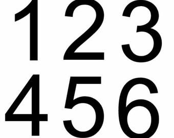 Number Vinyl Decals - Set of numbers decals stickers labels - 1 2 3 4 5 6