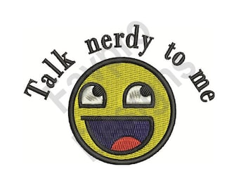 Talk Nerdy - Machine Embroidery Design