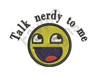 Talk Nerdy - Machine Embroidery Design