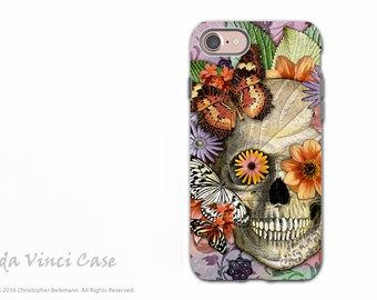 Butterfly Skull - Day of the Dead iPhone 7 / 8 Tough Case - Dual Layer Protection - Butterfly Botaniskull
