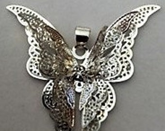 Butterfly pendant & Matching ear rings