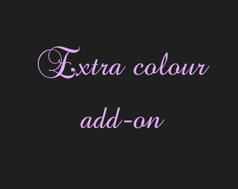Adding an extra font colour(s) to your order (price per tumbler)