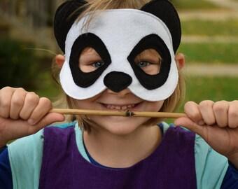 Handmade felt panda mask
