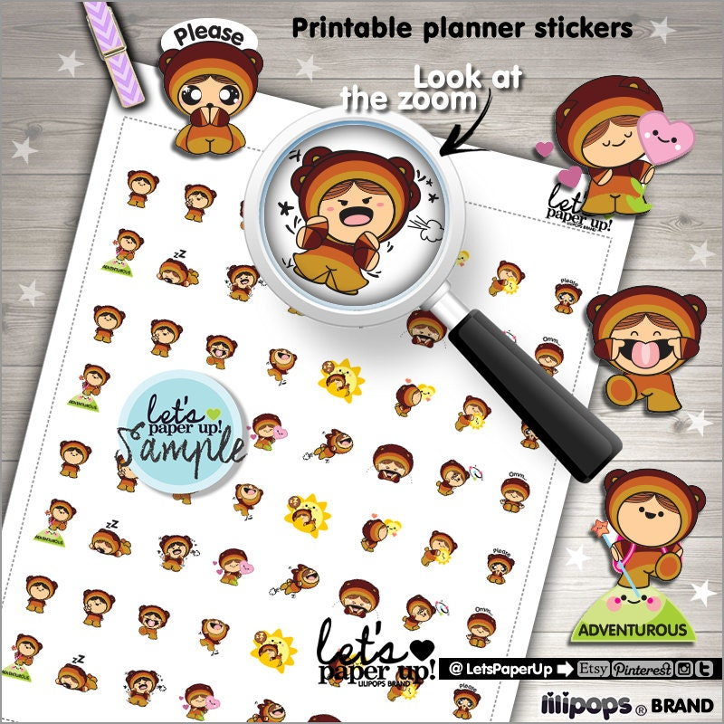 Set The Mood For Everything: 60%OFF Mood Stickers Printable Planner Stickers Feelings