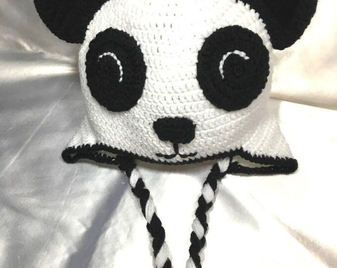 "Peruvian ""Panda"" crocheted hat in acrylic"