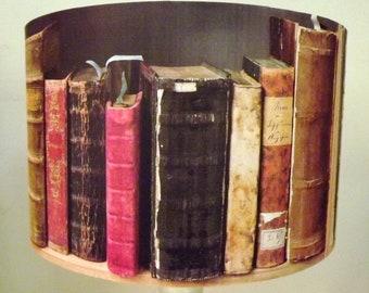 Old Book lamp shade,lampshade , antique books,Free Gift, Fatta da Mamma