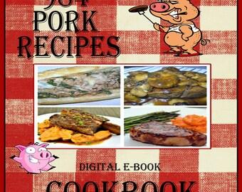 984 Pork Recipes E-Book Cookbook Digital Download
