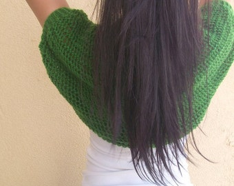 Clover Green Elegant Shrug-Knitting Clover Green Shrug - Any Season-Bolero-New Item