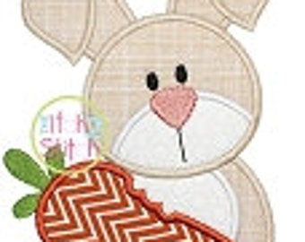 Personalized Easter Bunny with Carrot Boy or Girl Applique Shirt or Bodysuit