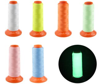 Glow In The Dark Sewing Thread Spools Glowing Effect Color for Hand Sewing Machine Embroidery Floss Sewing Thread Halloween Pajamas Quilting