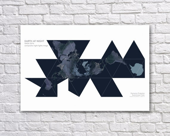 Nasa earth at night poster earth from space buckminster like this item gumiabroncs Images