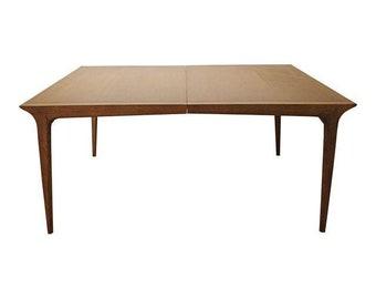 Mid-Century Danish Modern John Van Koert Drexel Profile Extendable Dining Table