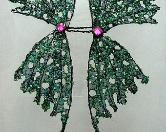Fairy Wings-OOAK-Enchanted Forest-Doll Sized (Made to Order by Request)