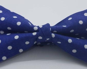 Blue Polka-Dot Bow Tie