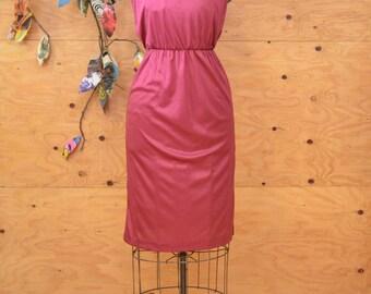Vintage 70's Spaghetti Strap Summer Midi Disco Dress SZ S