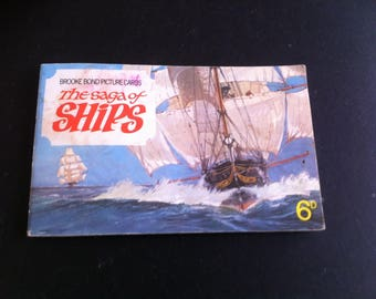 Vintage complete Brooke Bond Picture card album  The Saga of Ships.Full set of 50 Tea Cards good condition