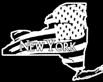 New York State Flag Decal