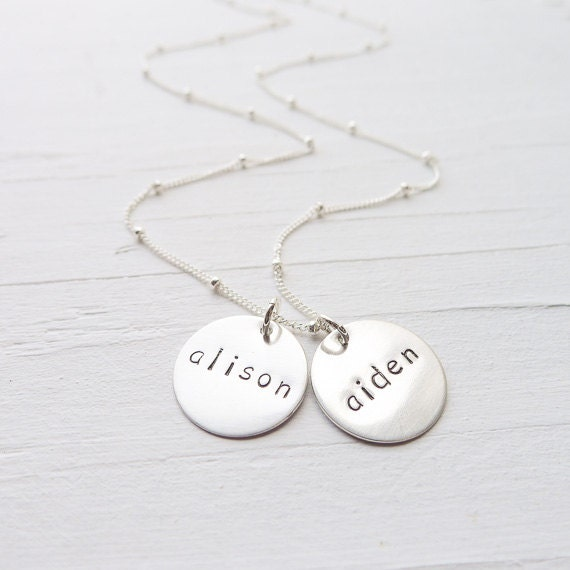 Mom necklace sterling silver engraved kids names necklaces zoom aloadofball Gallery