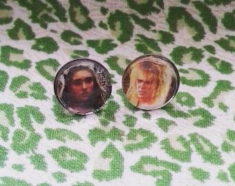 Labyrinth Sarah and Jareth silver earrings